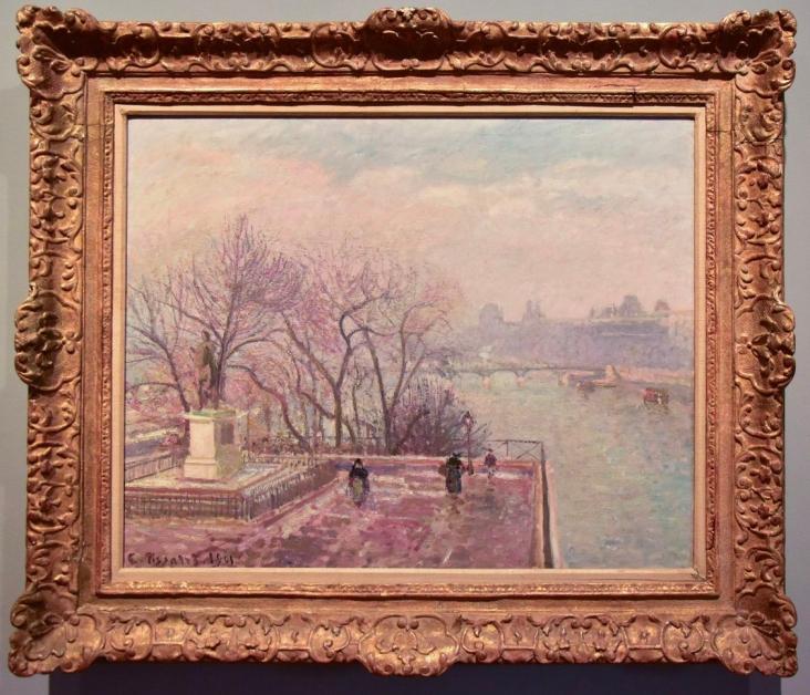 El Louvre, manana brumosa - Camille Pissaro