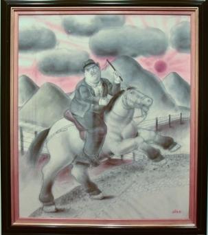 Hombre a caballo - Fernando Botero