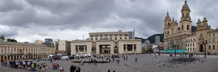 Panorama de la place Bolivar à Bogota