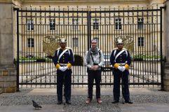 Maxime avec la Garde Nationale