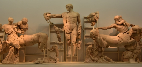Pediment temple de Zeus