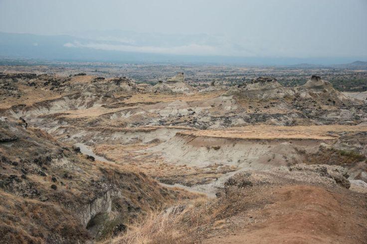 Vue d'ensemble sur le désert gris de la Tatacoa