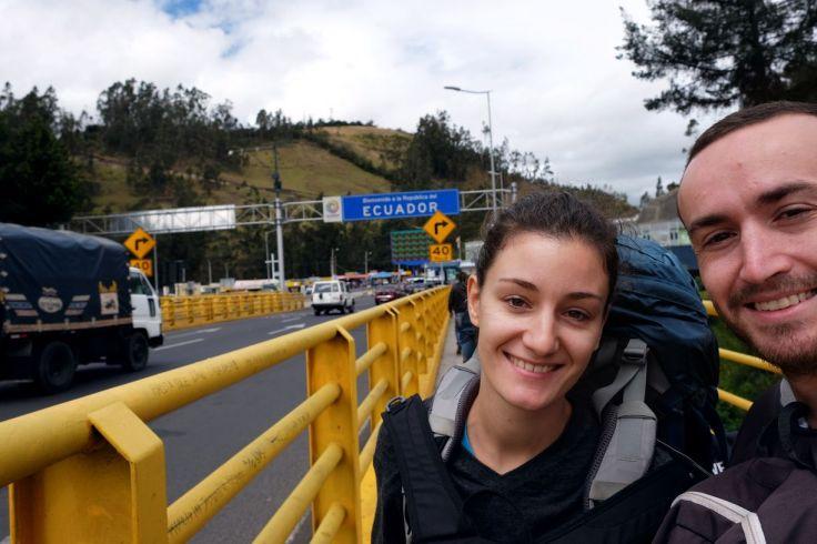 Passage en Equateur à Rumichaca