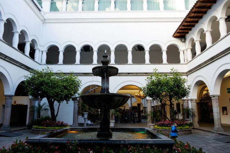 Fontaine du Palais Présidentiel de Quito