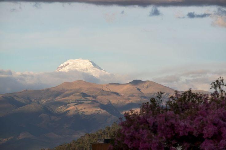 Aperçu du Cayambe depuis Quito