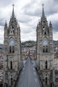 Premier point de vue dans la Catedral del Voto Nacional
