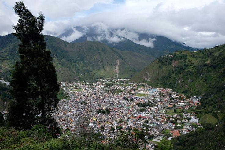 Vue sur Baños depuis le Mirador de la Virgen