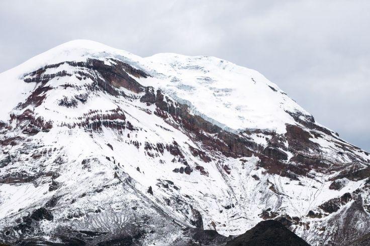 Sommet enneigé du Chimborazo