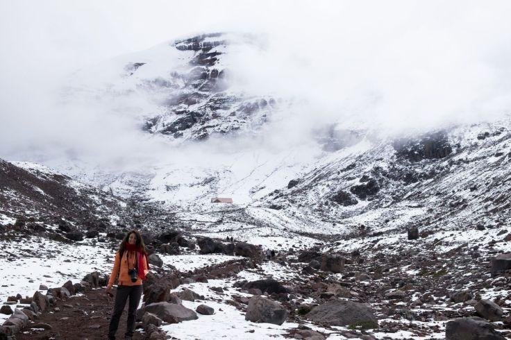 Le temps se couvre sur la redescente du Chimborazo