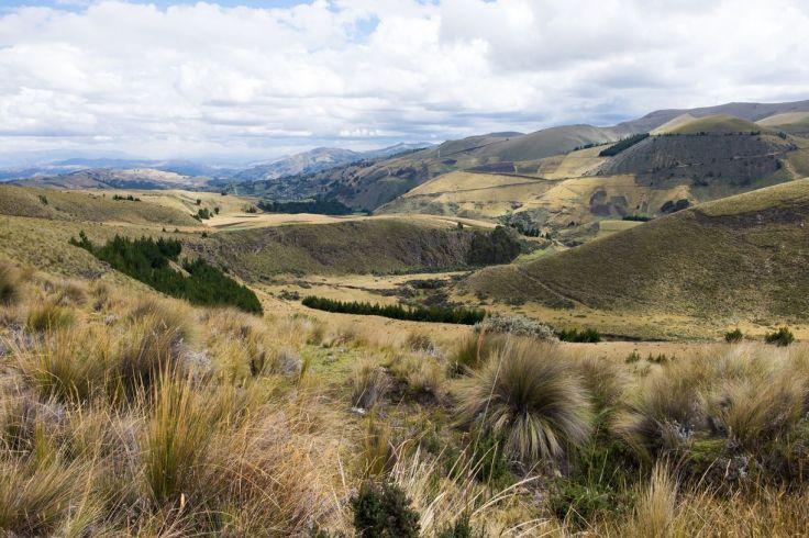 Vue sur les vallées autour du Chimborazo