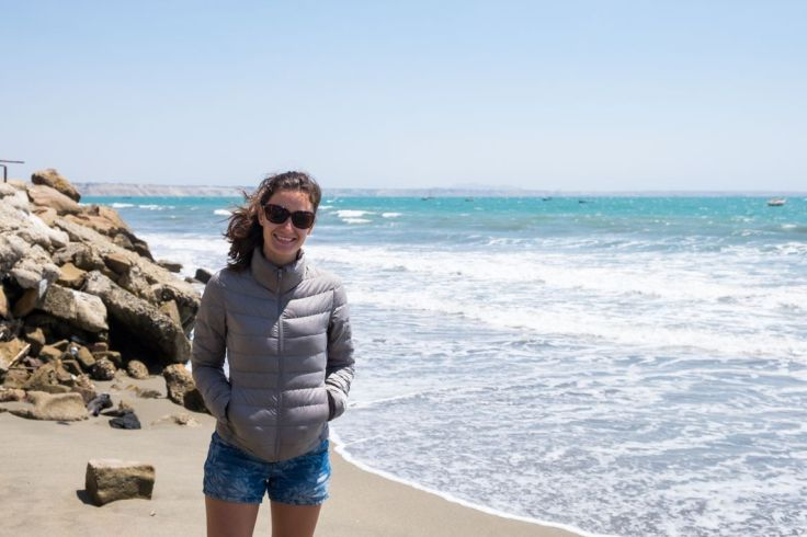 Doudoune à la plage !