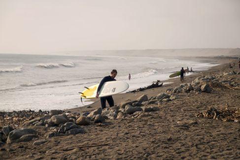 Le spot de surf à Huanchaco
