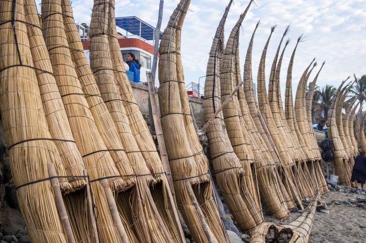Bateaux en totora à Huanchaco