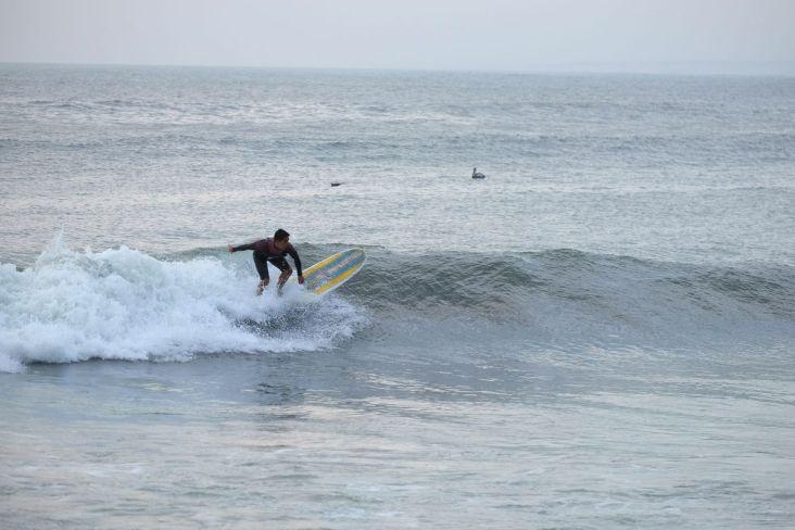 Surfeur à Huanchaco