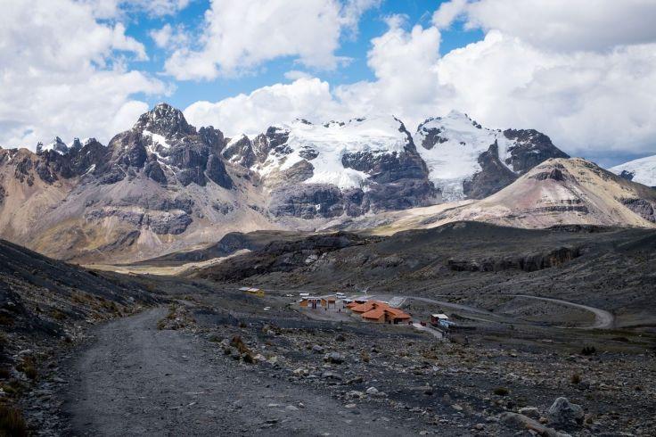 Vue du chemin pour aller au Glacier