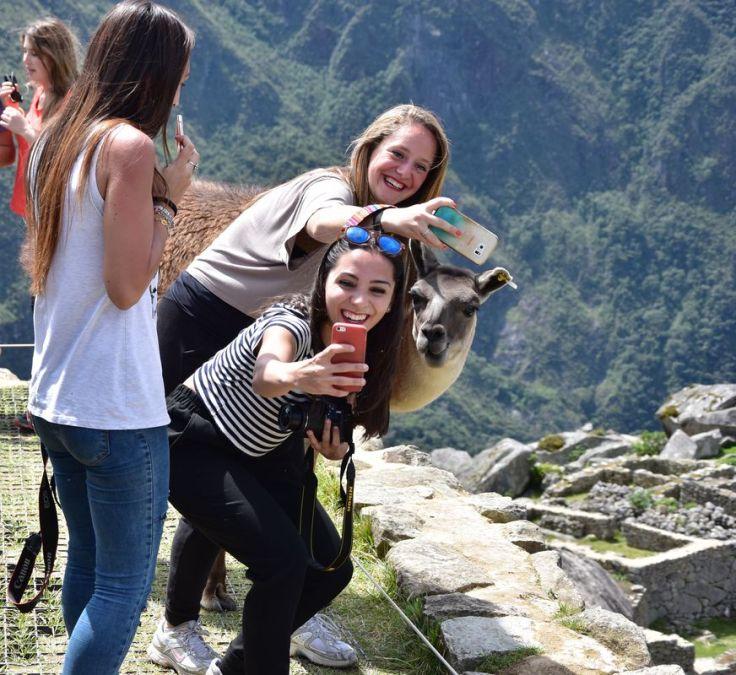 Selfie avec le lama