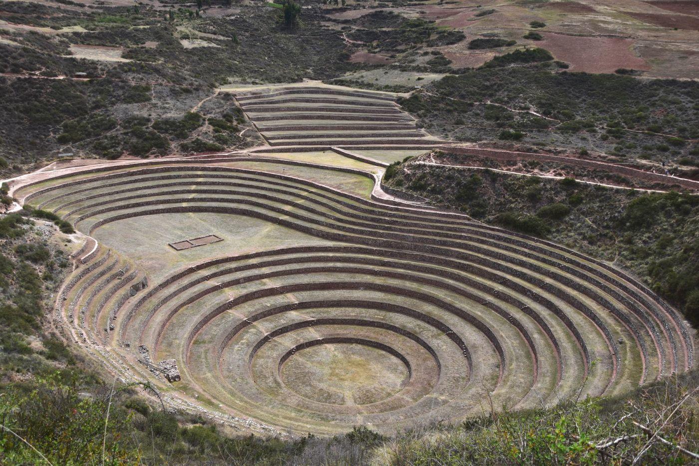 Moray le laboratoire de cultures Inca