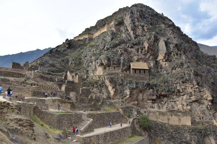 Ruines de cité inca d'Ollantaytambo