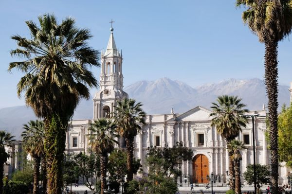 Plaza de armas et Cathédrale d'Arequipa