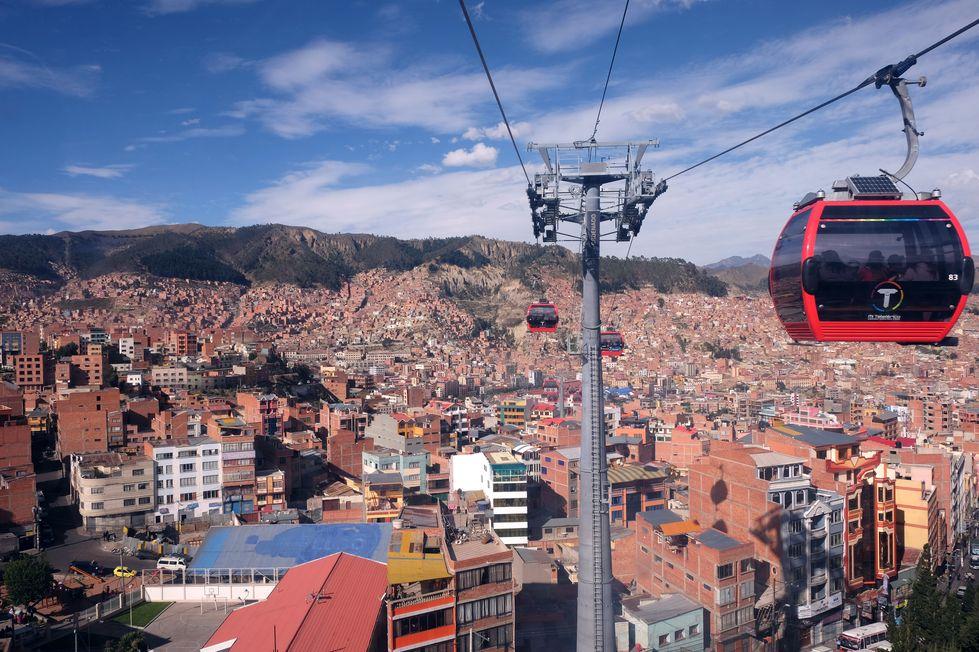 Téléphérique à La Paz, Bolivie