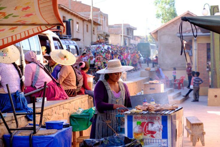 Fête du village à Torotoro, Torotoro, Bolivie