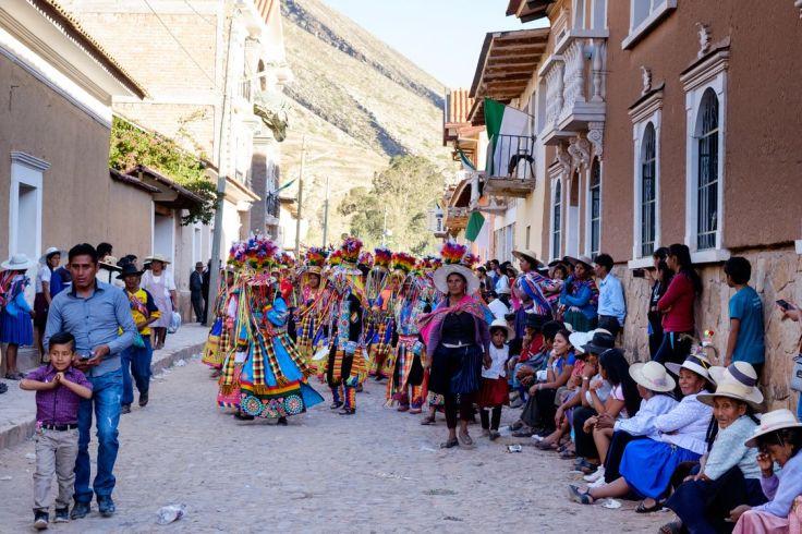 Parade lors de la fête du village Torotoro, Torotoro, Bolivie