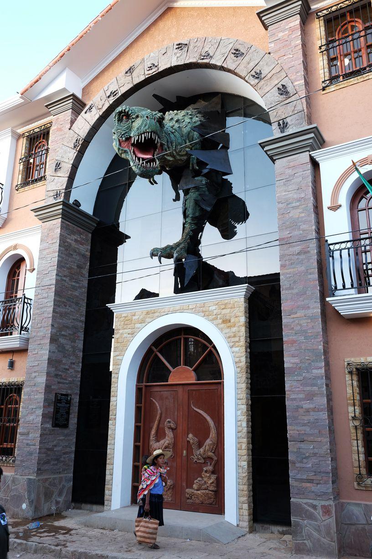 La ville se construit autour des dinosaures, Torotoro, Bolivie