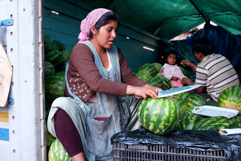 Vendeuse de pastèques, Torotoro, Bolivie