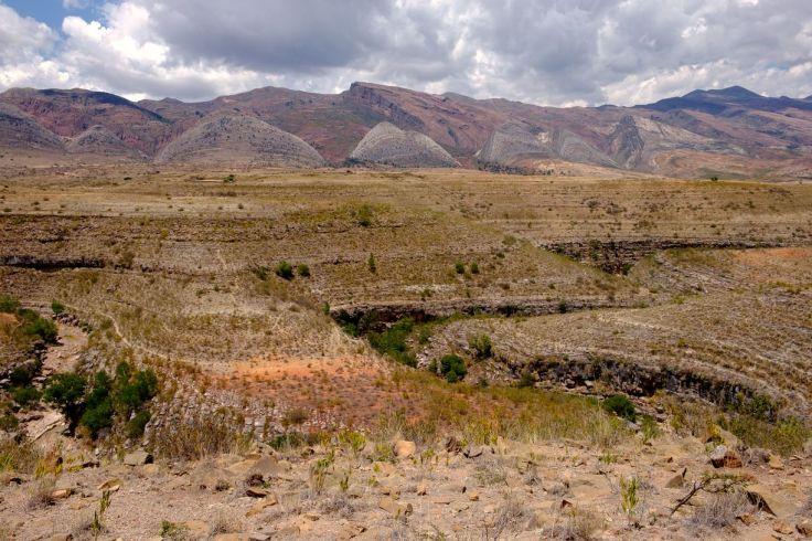 Superbe vue sur les montagnes du parc Torotoro, Torotoro, Bolivie