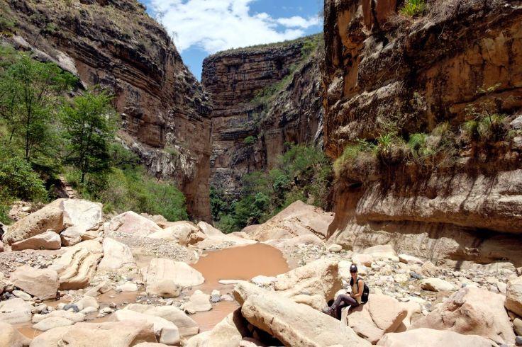Randonnée au fond du canyon El Vergel