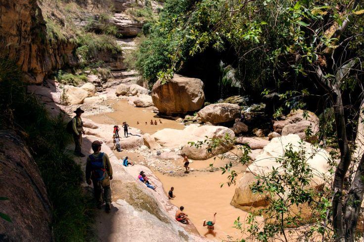 Baignade au fond du Canyon El Vergel