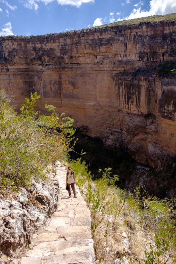 Le mur du canyon El Vergel